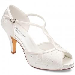 Sapatos noiva peep toe