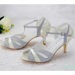 Sandalias cor prata noivas