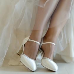 Sapato noiva salto grosso