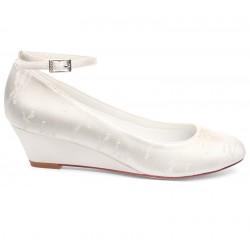 sapatos casamento salto cunha