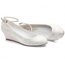 Sapatos noiva cunha