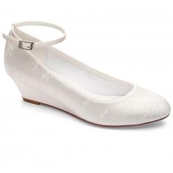 Sapatos noiva salto cunha
