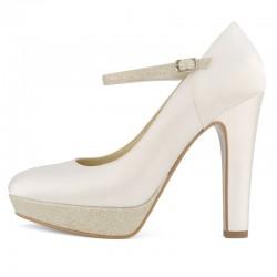 Sapatos Noiva salto alta e grosso