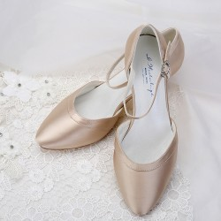 sandalia noiva dourada