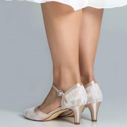 sapato noiva confortável dourado