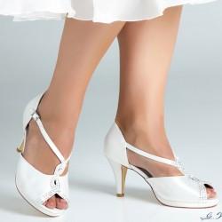 Sapatos noiva salto médio