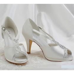 Sapatos Noiva Salto medio peep-toe