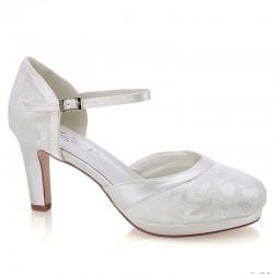 Sapato noiva salto alto e plataforma