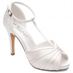 Sandalias para noivas com salto alto