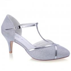 Sapato prateado para noivas
