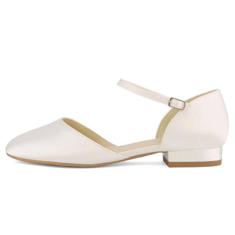 Sapatos noiva rasos em cetim