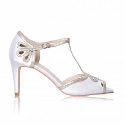Sapatos Noiva Esme Marfim