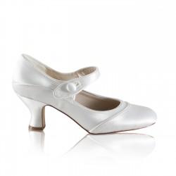 sapatos vintage para noivas salto medio