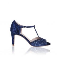 Sandalias para noivas azul