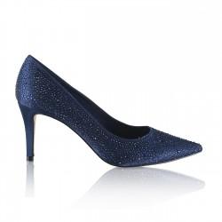 Sapatos de festa azul marinho