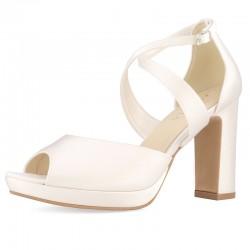 Sapatos Noiva Salto alto y grosso