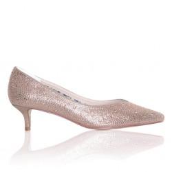 Sapatos dourados festa