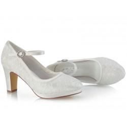 Sapatos noiva salto grosso