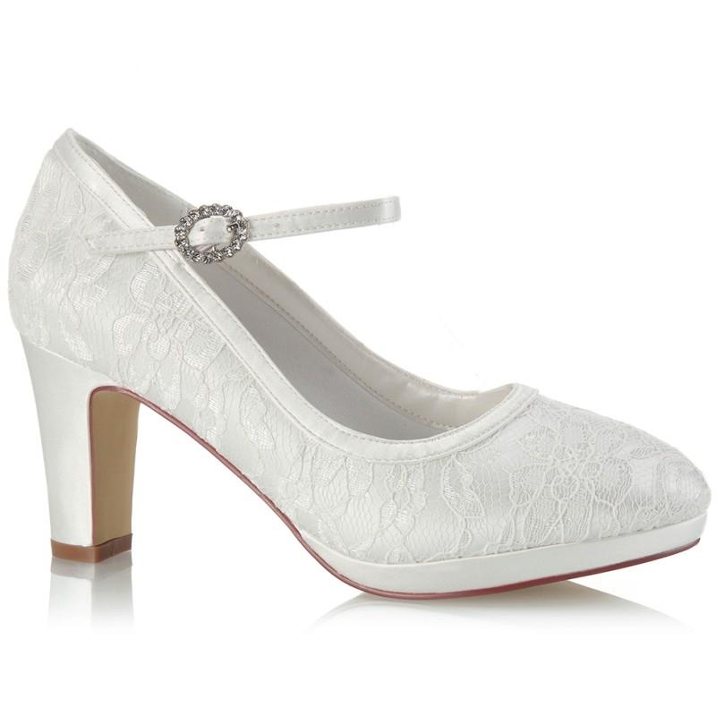 Sapatos noiva de renda