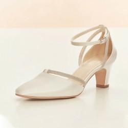 Sapatos Noiva saltos baixos, semi fechados - Portugal